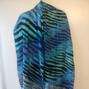 Tommy Bahama Multi Colored Animal Print Scarf
